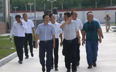 三一重能董事长周福贵参观大唐海西宝山风电场
